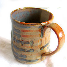 mug with dripped design