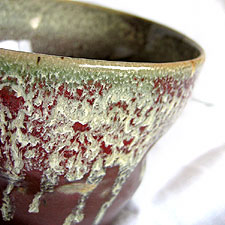 Flower Pot with drippy glaze